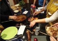 Hands cooking together