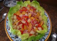 Ensalada Valenciana - potato, red pepper and orange