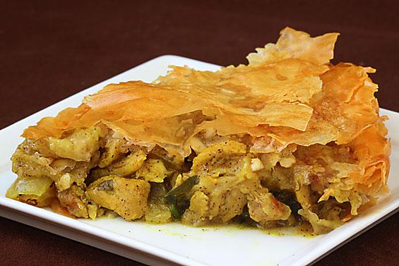 Moroccan Chicken Pie, YUM!