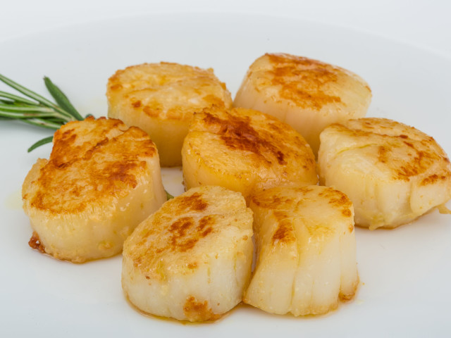 Yum! Scallops cooked perfectly!